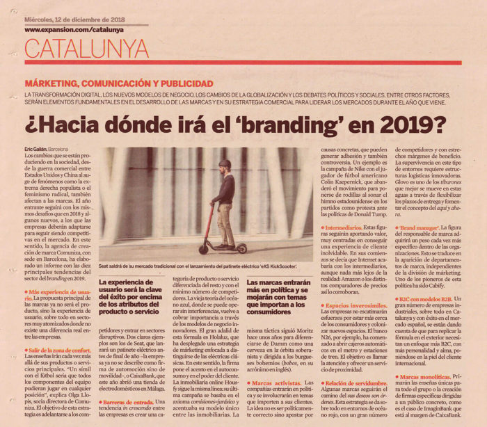 tendencias branding 2019